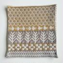 ヤノフ村の織物 クッションカバー 鳥と森と幾何学模様(37×37cm) #2081