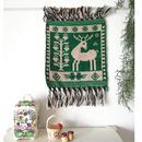 ヤノフ村の織物 タペストリー 鹿と小鳥(22×24cm) #2350
