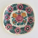 ヴウォツワヴェク陶器 角皿(18.5cm四方)#3533