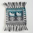 ヤノフ村の織物 鳥と木(16×14cm)