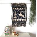 ヤノフ村の織物 タペストリー 夜の森の鹿(22×24cm) #2351