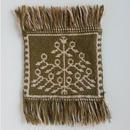 ヤノフ村の織物 コースター 樹木(14×13cm)