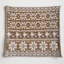 ヤノフ村の織物 クッションカバー 鳥と幾何学模様(42×40cm) #2209