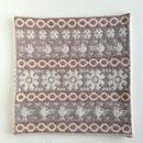 ヤノフ村の織物 クッションカバー 鳥と幾何学模様(37×38cm) #2075
