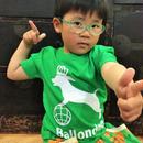 Ballondog キッズTシャツ グリーン front ロゴ back Ballondog文字