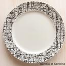 Tweed dinner plate