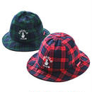TARTAN CHECK METRO HAT (GREEN&RED)