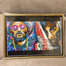 Paint school boy Q&joey badass Print A4(Gold Flame)