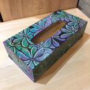 Soul Flower Pattern Hand Painted Tissue Case