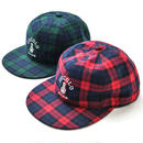 TARTAN CHECK 6 PANEL CAP (RED&GREEN)