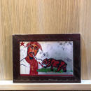 Paint 2Pac Print A6(Brown Flame)