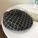 ★チュール チェックベレー帽★Ladies