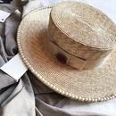 ★パールビジューカンカン帽★ladies