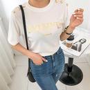 ★ゴールドボタンTシャツ★ladies