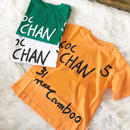 (即納)ペイントTシャツ オレンジ
