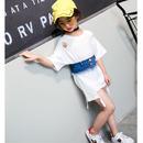 ★デニムコルセット付きTシャツOP90.100.110cm★