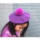 ★ぽんぽんカラーベレー帽★2カラー