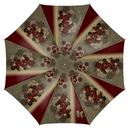 桜家紋と蝶家紋 傘