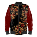 Japanesque Peony Ladies Bomber Jacket