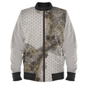 silver emblem design Men's Bomber Jacket