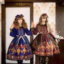 [Baroque] Homecoming cat starry オーバースカート【ご予約商品】