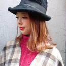 Vintage Feather Brim Hat