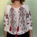 Vintage India Cotton Embroidery Tassel  Blouse