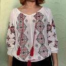 Vintage India Cotton Embroidery Tassel  Blouse