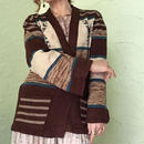 70's Native American Belted Cardigan