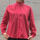 Vintage Red Frill Stand Collar Blouse