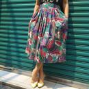 Vintage Flower Print Gather Skirt