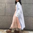 70's  Vintage Stripe & Flower Cotton Long Gown