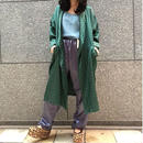 70's  Vintage  Green Satin Shawl Collar  Shawl Collar Gown