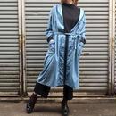 70's Vintage Blue Trim Cotton Long Gown