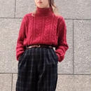 Vintage Cable Turtle Neck Cotton Sweater