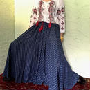 50's Vintage Blue Check Circular Skirt