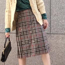 Vintage Check Kiltead Wool Skirt