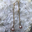 Vintage Gold Chain and Pearl Earrings by freaque