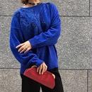 Vintage Blue Beaded Mohiar Knit
