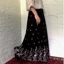 70's Vintage Embroidery Maxi Skirt