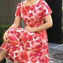 Vintge Red Flower Dress