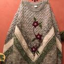 80's Vintage Flower Patchwork Knit