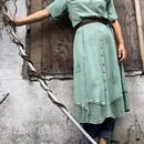 Vintage Indian Chemical Green Dres
