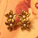 Vintage Gold Flower Earrings