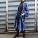 70's Vintage Blue Check Cotton Gown