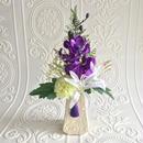 ◎再販 【モダン 仏花】凛とした紫と白の お供え花 *舞花B21