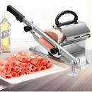 半自動ミートスライサー 家庭用 野菜も切れる 業務用 自動送り出し手動肉切り機 冷凍肉スライス オールステンレス鋼