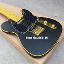 【送料無料!】エレキギター ブラックゴールド グローバルカスタムギター 専用ハードケース付き【新品】