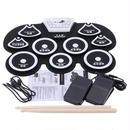 【送料無料!】【高品質】折り畳み式電子ドラムパッドスティック フットペダル デジタル USB【新品】