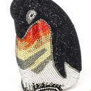 【送料無料!】レディース 高級パーティーバッグ クラッチバッグ ラインストーン 結婚式イブニング キラキラ ビジュー ジュエリー 2way ペンギン 鳥【新品】